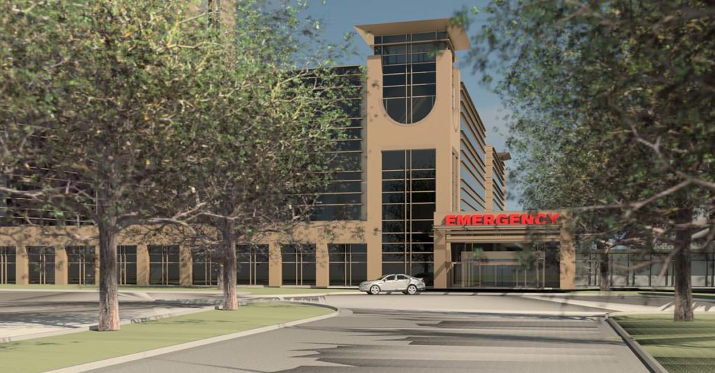 Rendering of New Emergency Department at McLeod Health